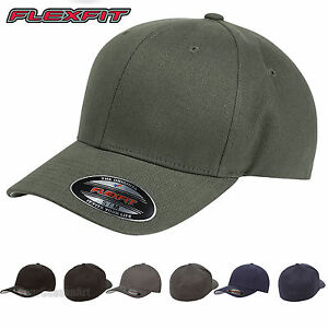 423cca4975aea Image is loading FLEXFIT-Mens-Structured-Brushed-Fitted-Twill-Cap-Blank-