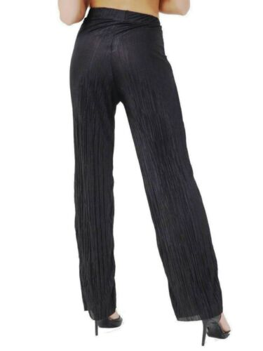 Ladies Pleated Wide Legs High Waist Palazzo Culotte Summer Casual Trousers Pants