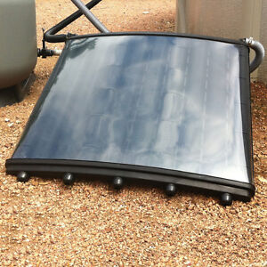 Solar grid pool heating solar panels ebay for Inground pool greenhouse