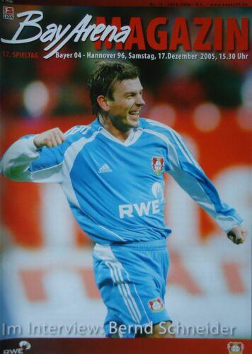 Hannover 96 Programm Bundesliga 2005//06 Bayer 04 Leverkusen