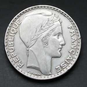Piece-Argent-France-20-Francs-Turin-Annees-Variees-1929-1939