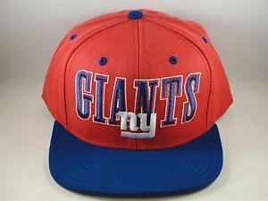 a00a61b0938 NFL New York Giants Reebok Snapback Hat Cap Red Blue 886047167728