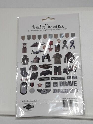 44 Pack Military Die Cuts Custom 3 pack bundle great for crafting Bella NIP