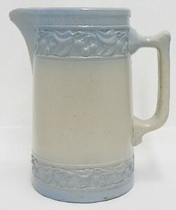Image Is Loading Vintage Red Wing Pottery Blue Cherry Band Large