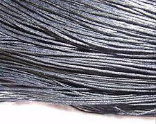 8 metres black waxed cotton cord 2 mm plaiting bracelet necklace knots lace WC92