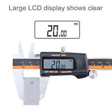 Stainless Steel Electronic Digital LCD Vernier Caliper 150mm Micrometer E5I T9L1