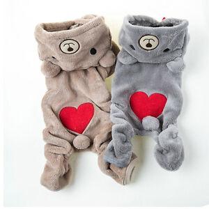 Chihuahua-Teddy-Dog-Puppy-pyjama-pyjama-Veste-chaude-veste-Vetements-PL