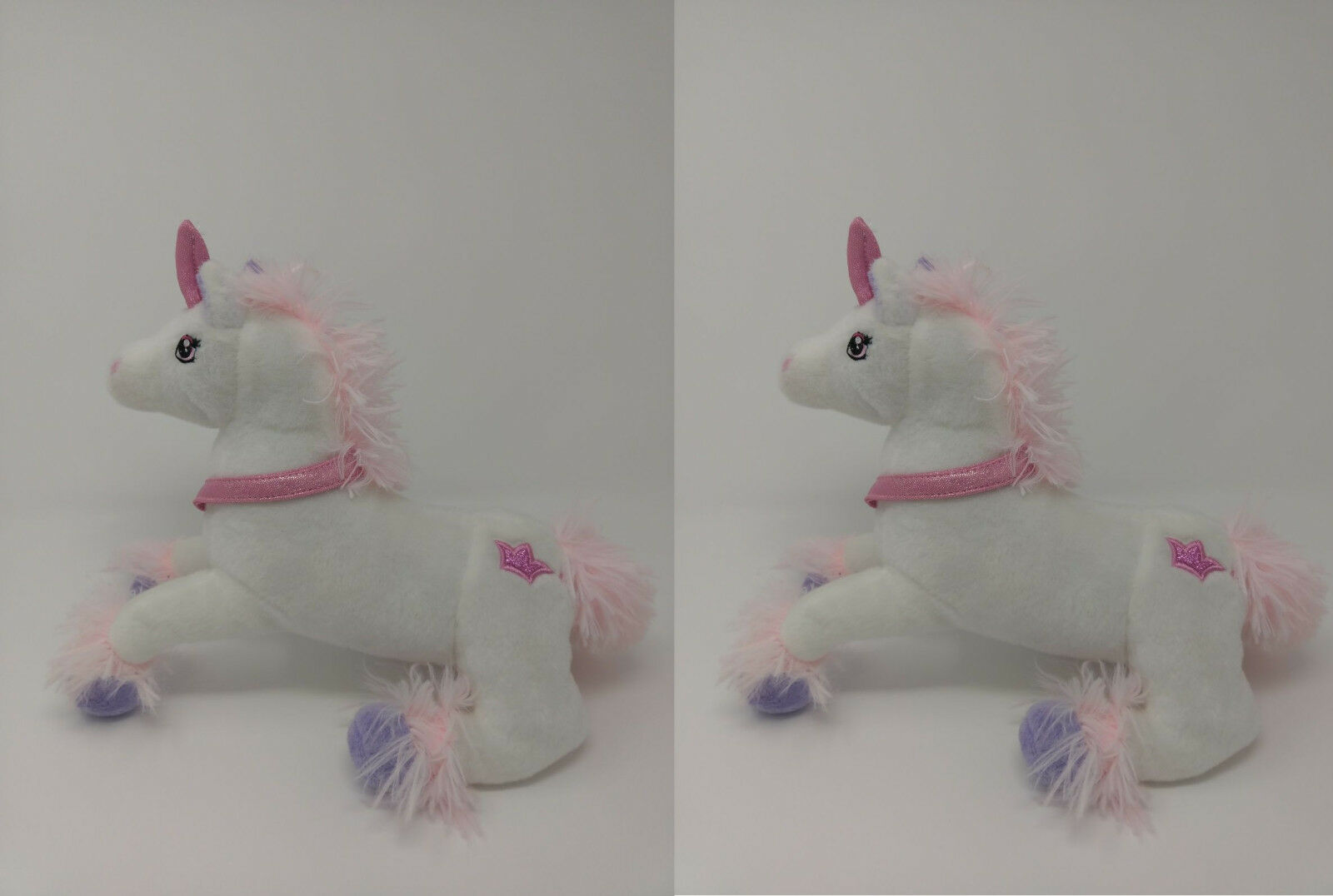 2 x Large 13  Unicorn Plush Soft Toy Cuddly Luxury Soft Stuff Toy  Kids Fun Gift