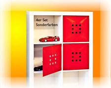 4er S Tür Einsatz Ikea Regal Expedit Kallax Facheinsatz Flexi Würfel Ferrari-Rot