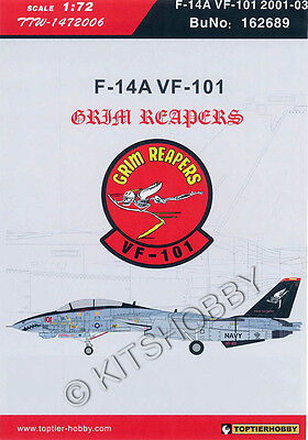 TOPTIERHOBBY 1//144 F-14A VF-101 Grim Reapers 2001-2003 Decals