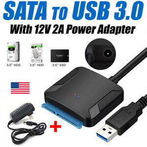 UASP-SATA-TO-USB-3-0-Converter-Cable-2-5-3-5-inch-HDD-SSD-Adapter-12V-US-Power