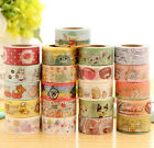 10M Cartoon Pattern Decorative Washi Tape Sticky DIY Stationery Adhesive Sticker