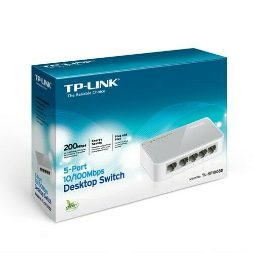 TP-Link TL-SF1005D 5 Port 10/100Mbps Unmanaged Ethernet Network Desktop Switch