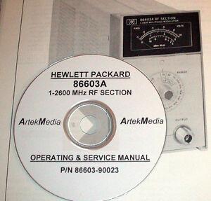 hp hewlett packard 86603a 1 2600 mhz rf section operating service rh ebay com HP Manuals PDF hp lj 2600n service manual