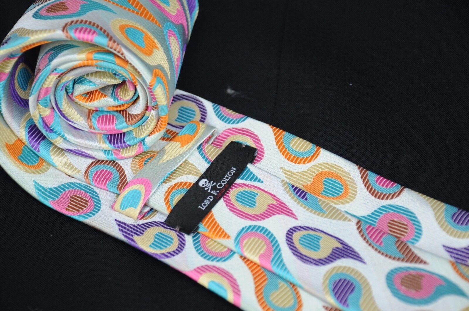 Lord R Colton Masterworks Krawatte - - - Capri Grau Aquamarin Magenta Paisley - Neu   Online-Shop  cc3e72