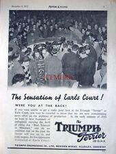1952 TRIUMPH 'Terrier' 150cc OHV Motor Cycle AD - Original Print ADVERT