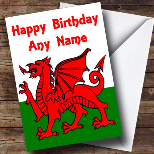 Welsh flag wales personalised birthday greetings card ebay m4hsunfo