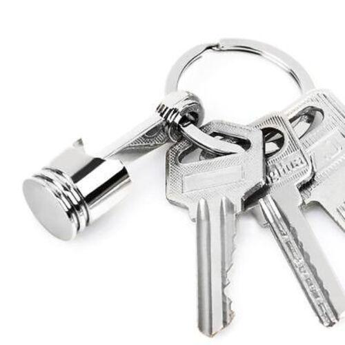 Hot Metal Piston Car Keychain Keyfob Engine Auto Fob Key Chain Ring keyring