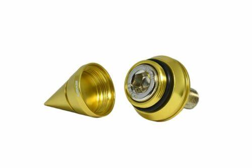 GOLD VMS RACING ADJUSTABLE CAM GEARS SPIKED BOLTS HONDA ACURA B16 B18C