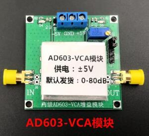 AD603 80dB Variable Gain Amplifier Voltage-Controlled Adjustable VCA Module