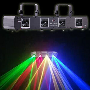 4-Beam-Stage-DJ-Laser-Light-Red-Green-Yellow-Blue-760mW-RGYB-Lighting-DMX-Disco