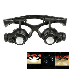10X 15X 20X 25X Watch Jewelery Eye Repair LED Magnifier Magnifying Glasses Loupe