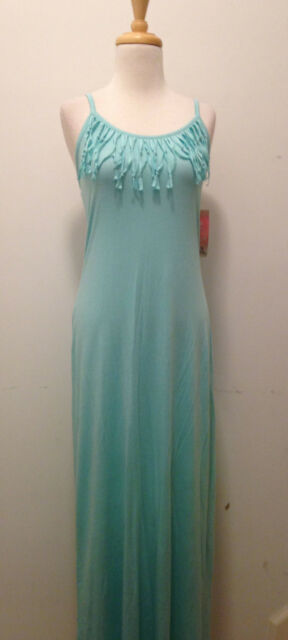 Mint Fringe Maxi Dress
