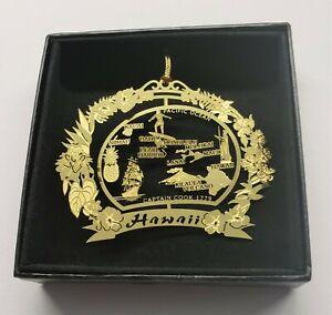 Ohio State Landmarks Brass Ornament Black Leatherette Gift Box