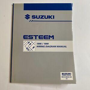 1998 1999 Suzuki Esteem Wiring Diagram Manual   eBay