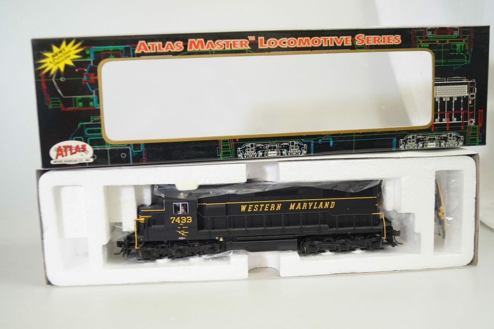 H0  9236 atlas Master us-diesellok sd-35 Western Maryland  7433, artículo nuevo embalaje original DCC