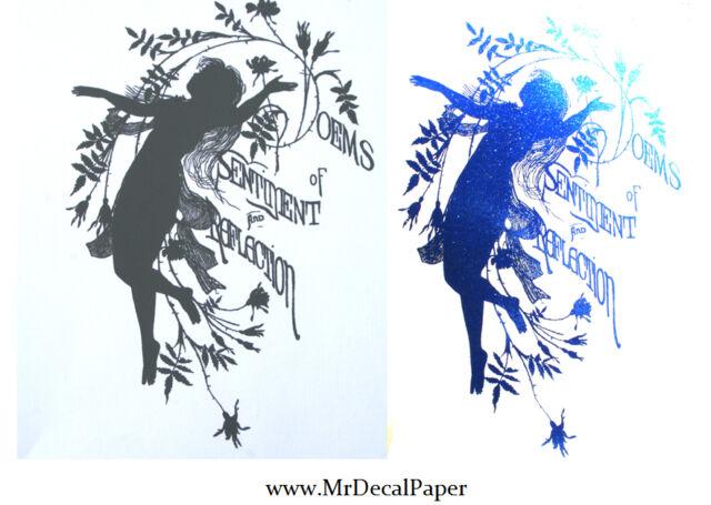 Blue Foil - Laser Printer Heat Transfer Foil 15cm x 3m Metallic