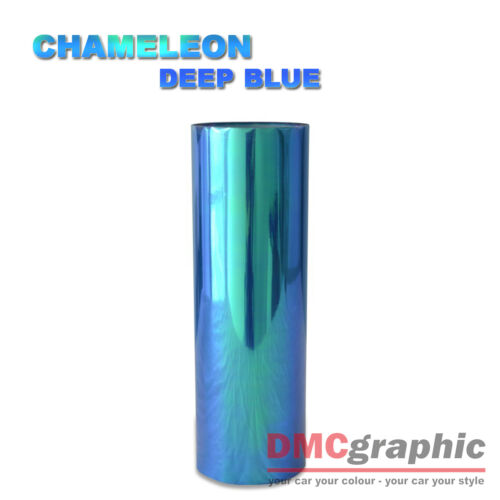 30x100cm Chameleon Deep Blue Car Motorbike Headlight Tail Light Vinyl Tint Wrap