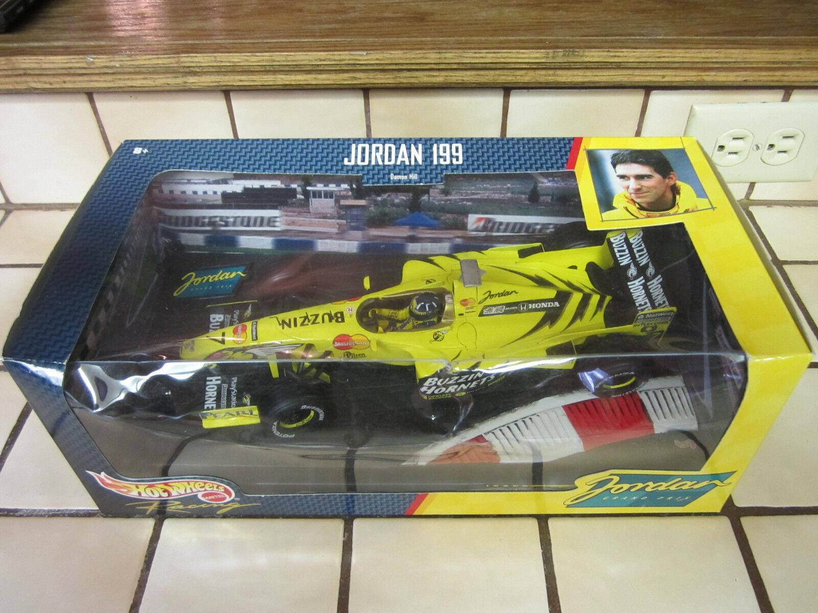1 18 Hot Wheels Racing Damon Hill Jordan 199 Grand Prix 1999 Mattel