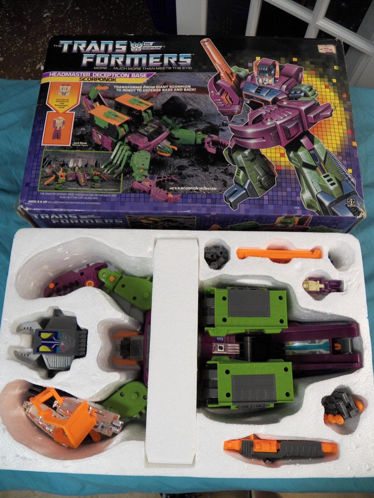 barato y de alta calidad Transformers Vintage 100% Completo Original G1 1987 Director Scorponok Base Base Base  Compra calidad 100% autentica