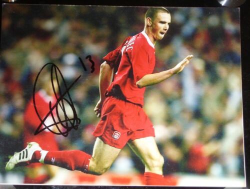 Anthony Le Tallec signed Liverpool 10x8