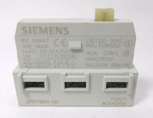 3RV1901-1D 10 Stück SIEMENS Hilfsschalter Wechsler