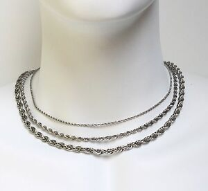 Stainless-Steel-Necklace-Rope-Chain-2mm-4mm-18-034-20-034-22-034-24-034