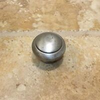 Pottery Barn Pitted Round Knob Vintage Pewter Large