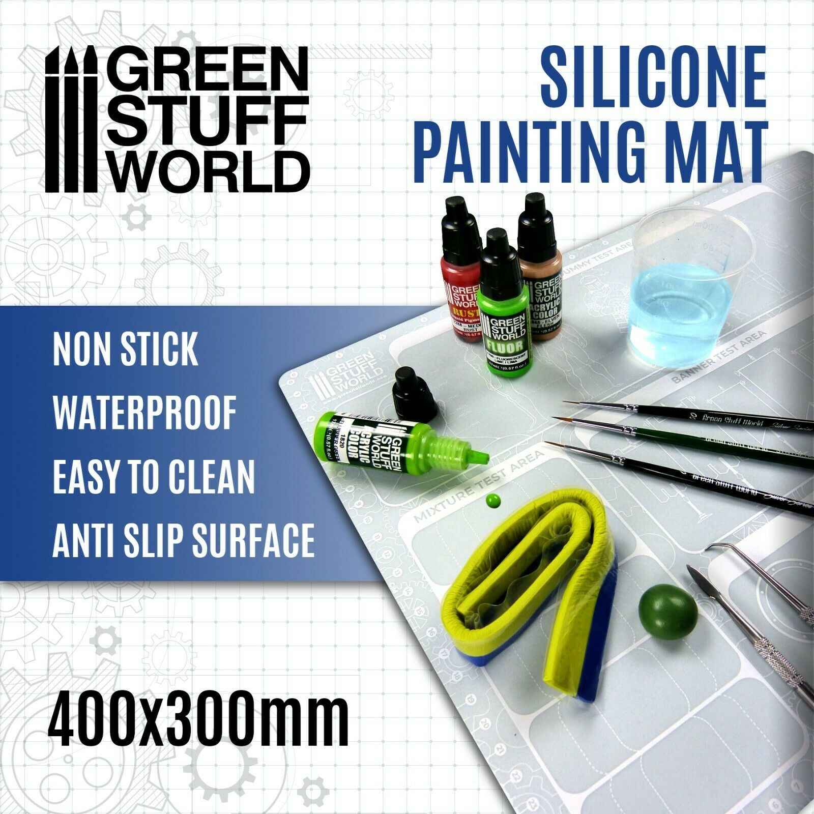 Tapete de Pintura 400x300mm - pintar miniatura warhammer 40K pintor escultor