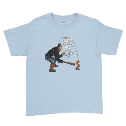 THE Walking Dead negan VS Groot-Walking Dead Kids T Shirt Unisex Bambini