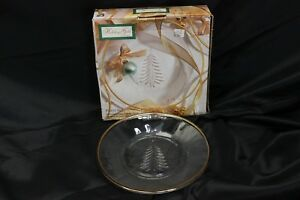 Indiana-Glass-Holiday-Gold-Salad-Plates-8-034-Set-of-12
