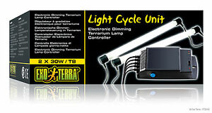 Exo Terra Light Cycle Unit Electronic Dimming Lamp Controller 2 X 30 WATT T8/T10