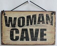 Woman Cave Sign Man Kitchen Craft Room Party Bachelorette Feminist Bed Dorm Knit