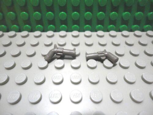 Lego mini figure 2 Classic Dark Gray revolver pistol Indiana Jones weapon