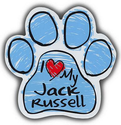 2019 Mode Zeichnen Pfote Hund Magnete: I Love My Jack Russell Terrier Auto, Kühlschränke