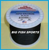 Woodstock Braided Igfa Fishing Line Black Color 130lb-600yd Free Usa Ship