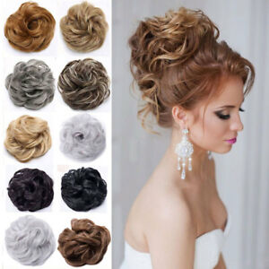 Details About Large Curly Updo Messy Curly Bun Chignon Clip In Hair Piece Extensions Thick Fem