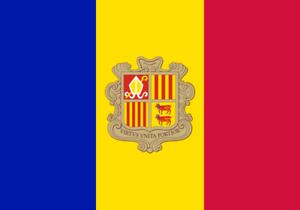 4-adhesivos-para-el-coche-o-la-moto-034-Andorra-Bandera-034-Sticker-Pegatina-8cm