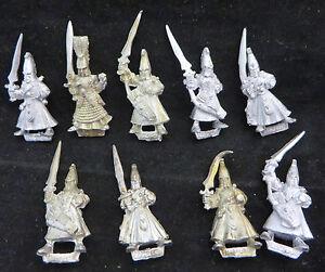 Warhammer-High-Elves-Warriors-shadow-oop-army-lot-metal