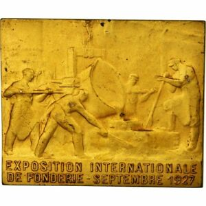 Exposition Internationale De Fonderie Medal Blin Bracing Up The Whole System And Strengthening It 1927 France #557913